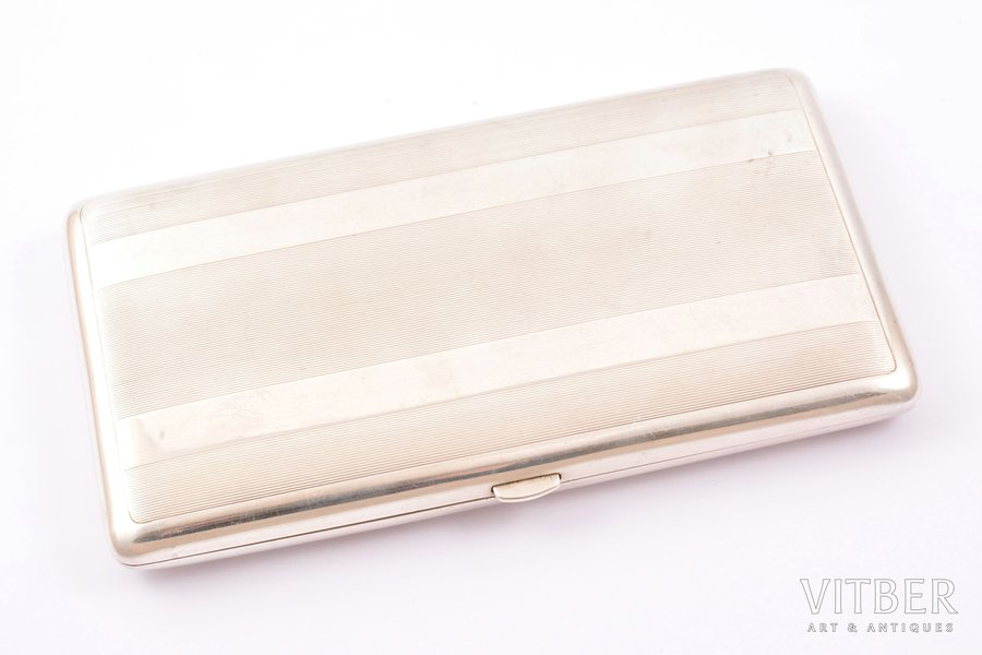 cigarette case, silver, 950 standart, 285.35 g, France, 15.8 x 8.9 x 1.6 cm