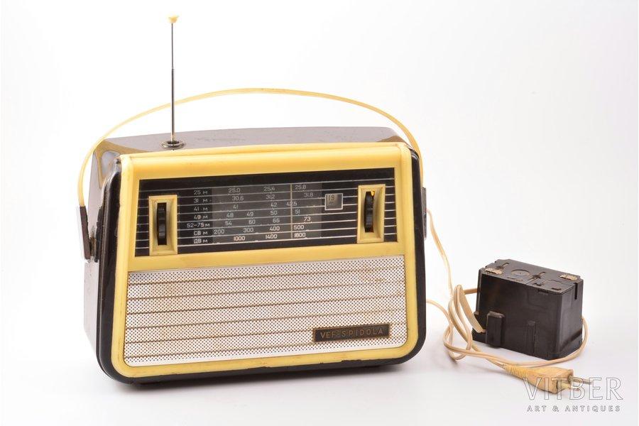 радиоприёмник, ВЭФ-Спидола, Латвия, СССР, 1962 г., 19.5 x 25.5 x 9 см