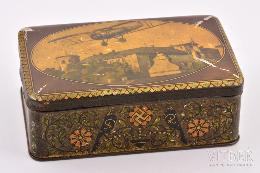 box, Aviation, metal, Latvia, the 30ties of 20th cent., 6.5 x 17.3 x 10.7 cm