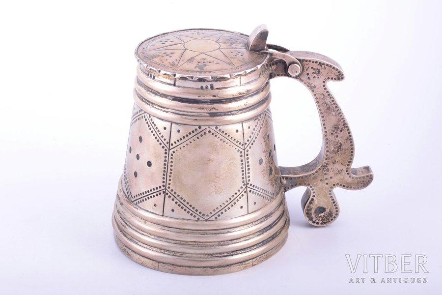 beer mug, silver, 875 standart, the 20ties of 20th cent., 587.50 g, Estonia, h 17.3 cm