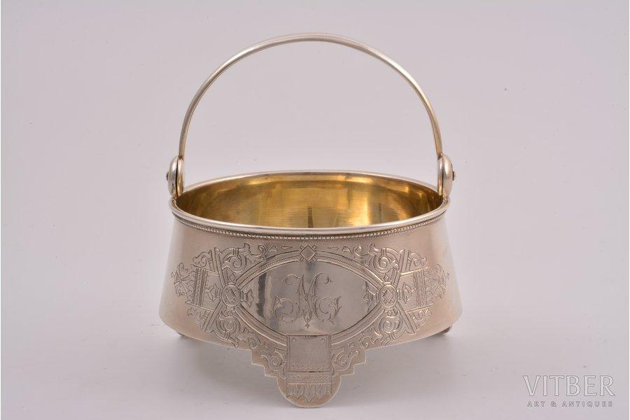 cukurtrauks, sudrabs, 84 prove, māksliniecisks gravējums, 1888 g., 158.45 g, Maskava, Krievijas impērija, Ø 9.8 cm