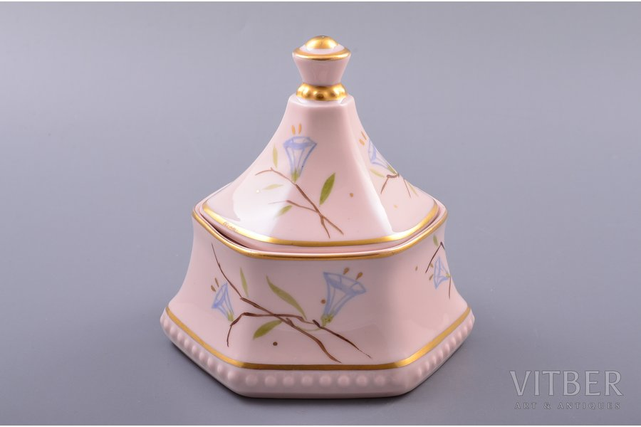 jewelry case, pink porcelain m...