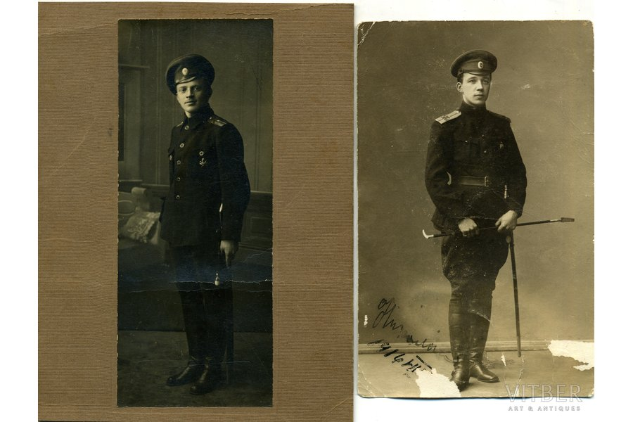 Photography, 2 pcs, Imperial Russian Army, officers, USSR, beginning