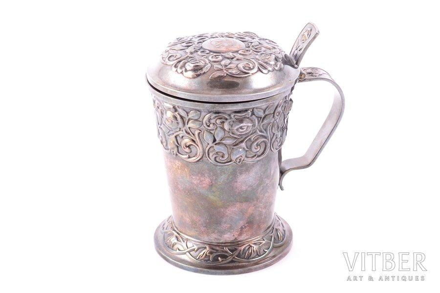 goblet with lid, silver, 830 standart, 1953, 118.45 g, Turku, Finland, h 9.9 cm, Ø 6.5 cm