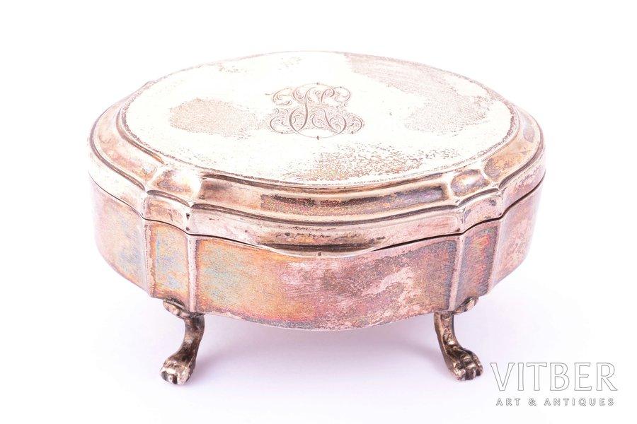 case, silver, 830 standart, 1927, total weight of item 66.90g, Helsinki, Finland, 7.5 x 5.5 x 3.8 cm