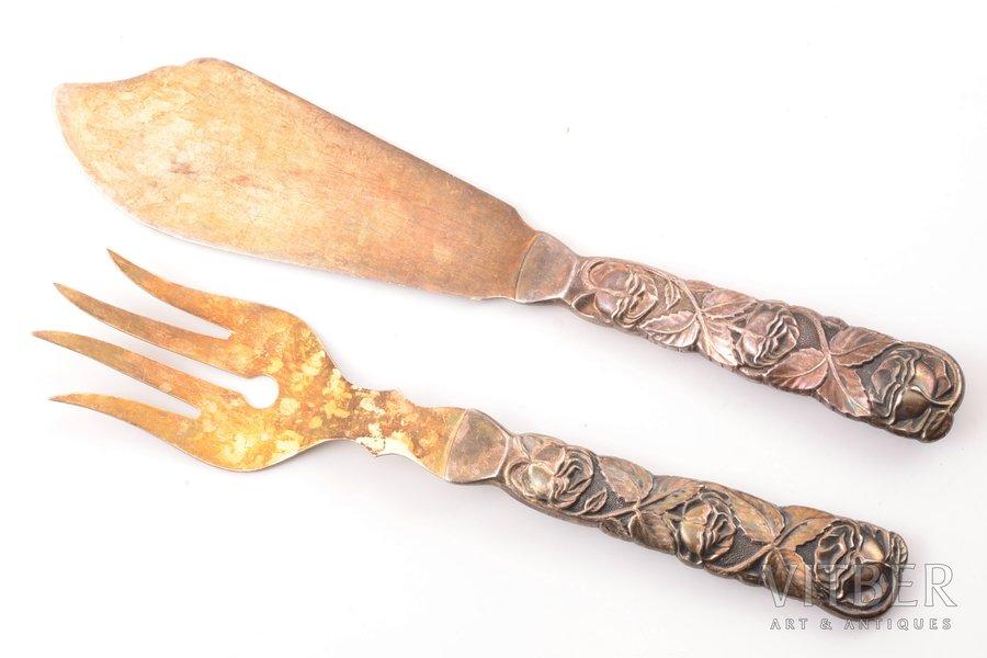 galda piederumu komplekts, sudrabs, 813 H prove, 2 gab., 124.50 g, Somija, 22.7 / 20.5 cm