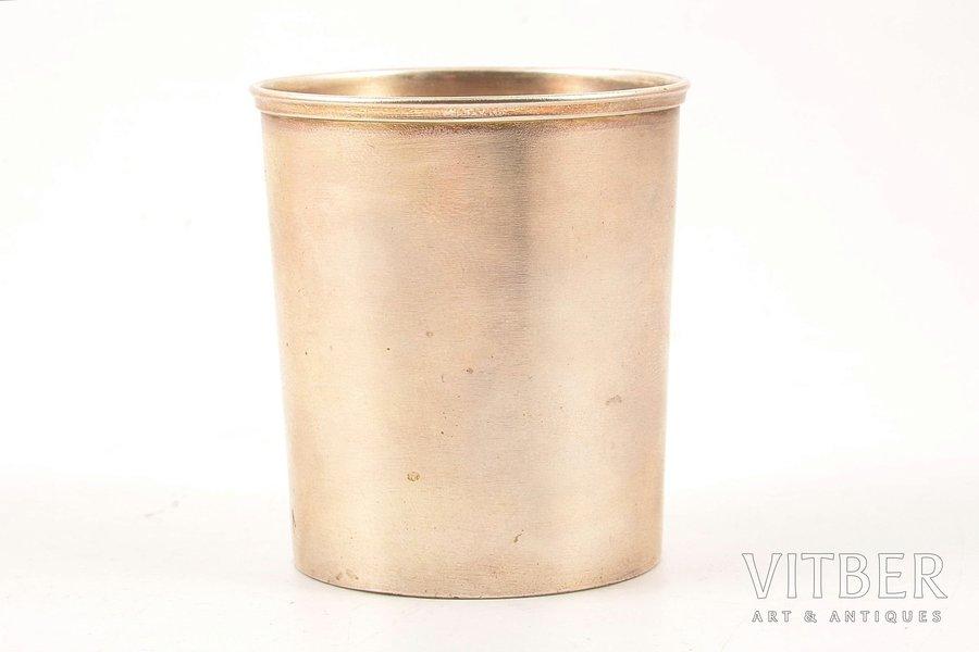 стакан, серебро, 84 проба, 1887 г., 60.26 г, С.- Петербург, Российская империя, Ø 5.2, h - 5.6 см