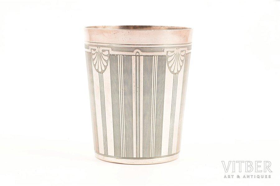 стакан, серебро, 800 проба, 79.40 г, Франция, Ø 6.3, h - 7.5 см