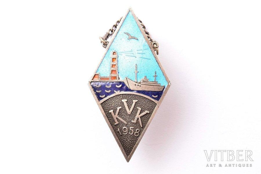 badge, KVK, USSR, 41.8 x 22.3 mm