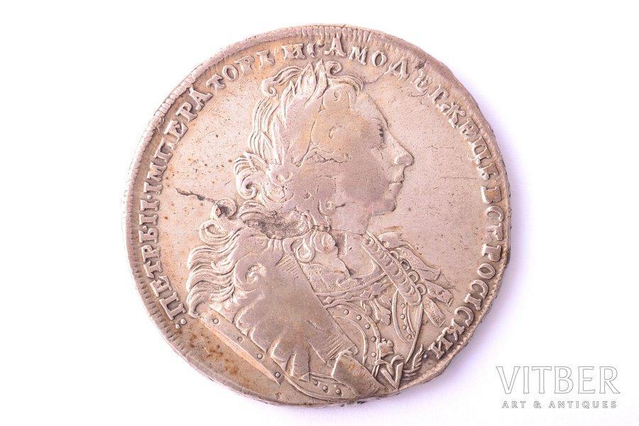 1 ruble, 1729, Peter II, silver, Russia, 27.72 g, Ø 40.5 - 40.8 mm, VF