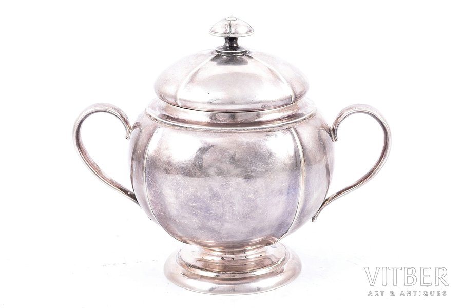sugar-bowl, silver, 84 standart, 1852, 292.20 g, craftsman unknown, Moscow, Russia, h - 11.8 cm