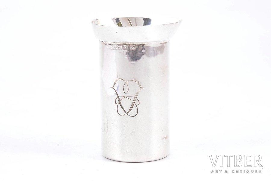 мерный стакан, серебро, 830 проба, 1973 г., 46.20 г, Kultakescus, Финляндия, h - 6.3 см