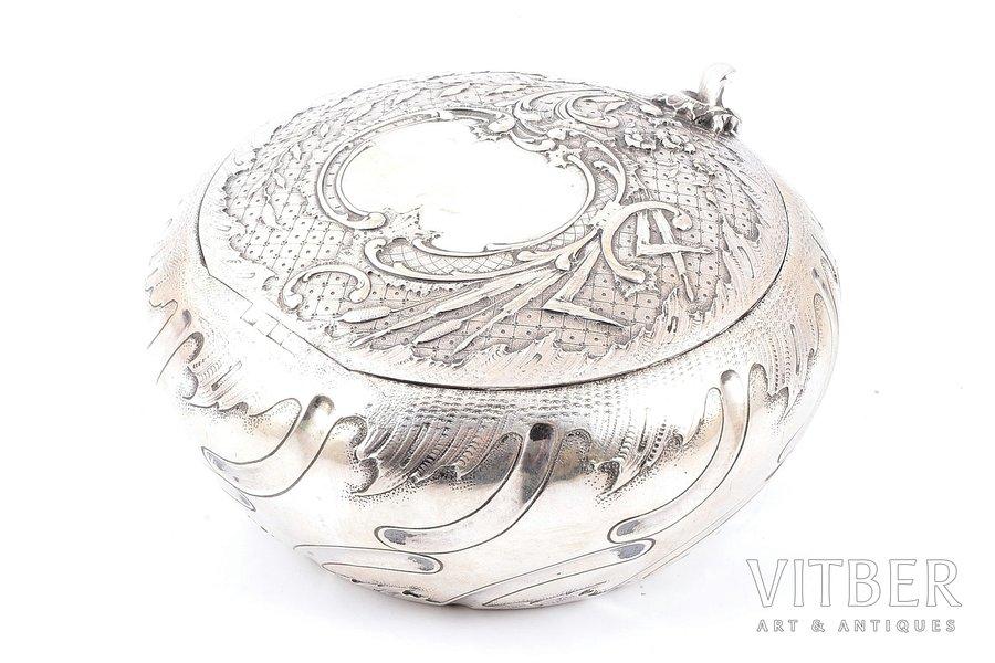 case, silver, 370 g, Ø - 13.4, h - 7 cm, import mark of France