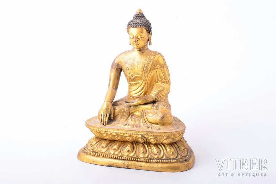 Buddha, bronze, 16.8 cm, weight 1050 g., the 1st half of the 20th cent.