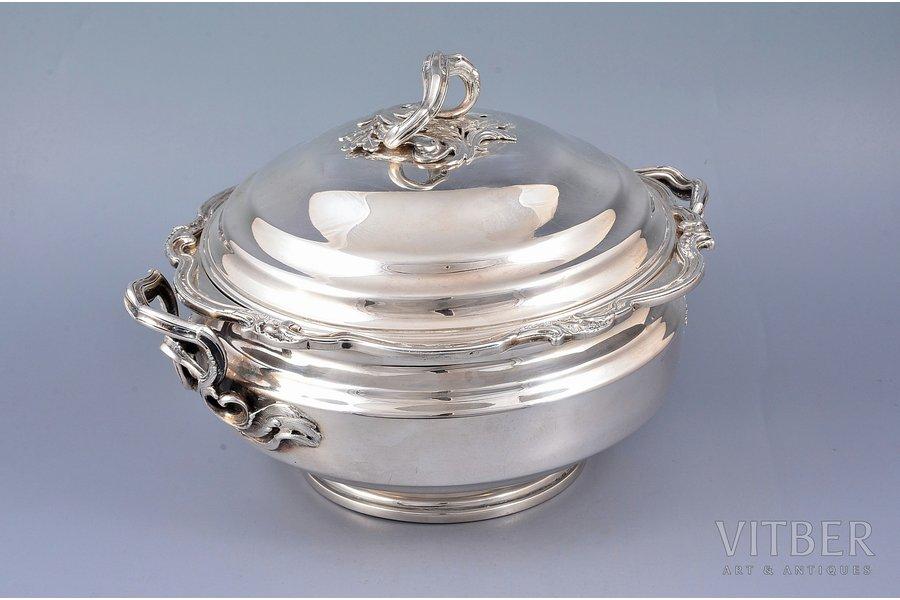 супница, серебро, 950 проба, 1086.70 г, Франция, Ø - 21.2, h - 16.2 см