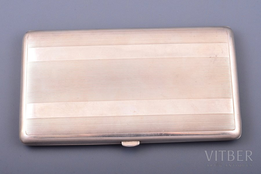 портсигар, серебро, 950 проба, 285.50 г, Франция, 15.7 x 8.9 x 1.6 см