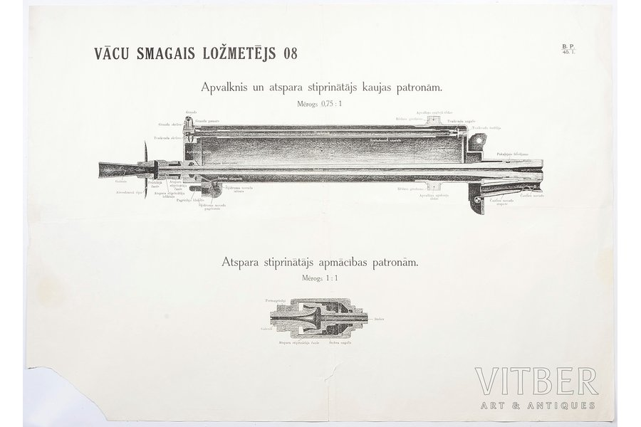 poster, German heavy machine-gun 08, Latvia, 59.5 x 83.6 cm