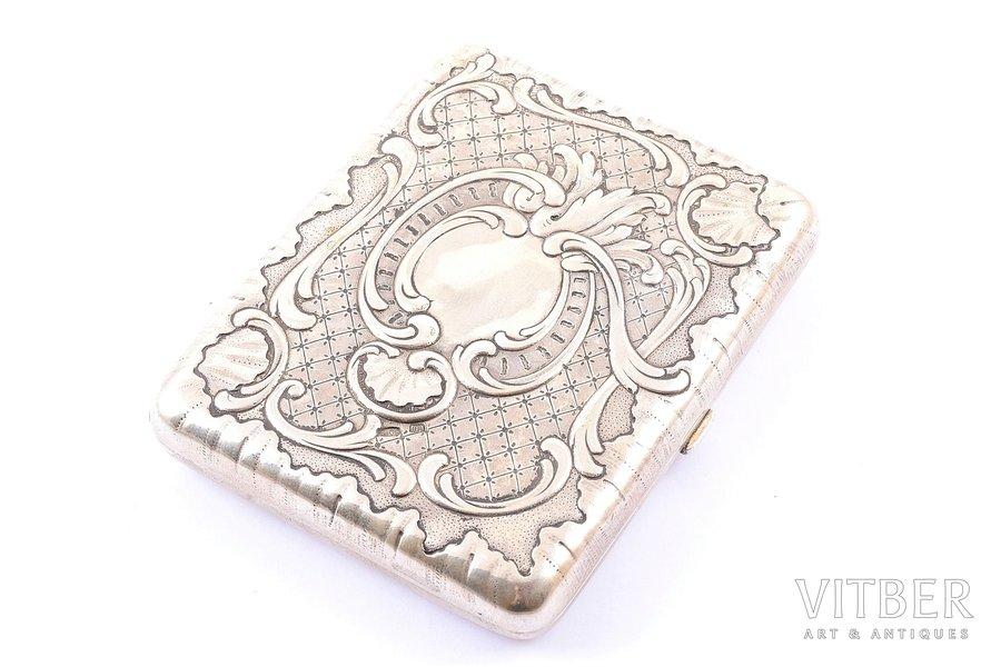 cigarette case, silver, 84 standart, 1899-1908, 163.45 g, master Shaposhnikov Sergey Ivanovich, Moscow, Russia, 9.8 x 8 x 1.8 cm