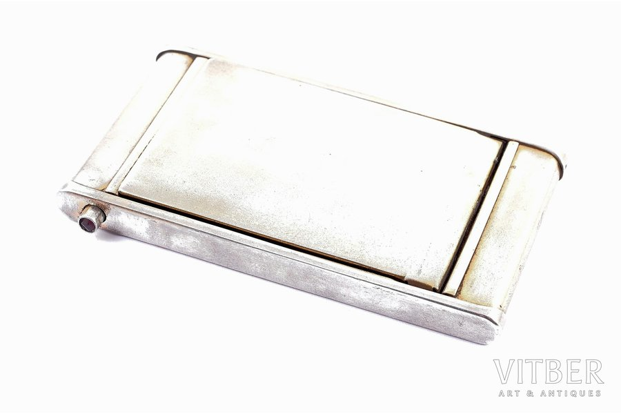 powder-box, silver, 875 standart, 1954-1958, 69.90 g, Jeweller factory of Sverdlovsk, USSR, 8 x 4.9 x 6.5 cm
