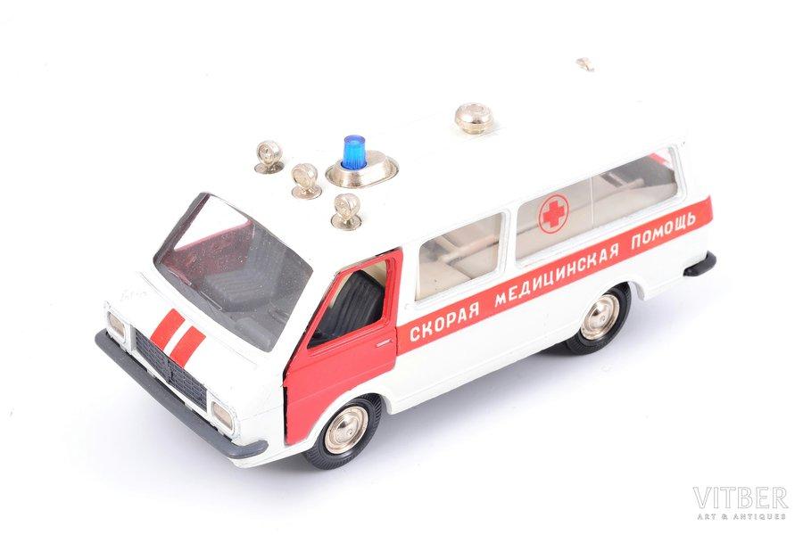 "car model, RAF-M 22031, ""Ambulance"", metal, USSR, 1987-1991"