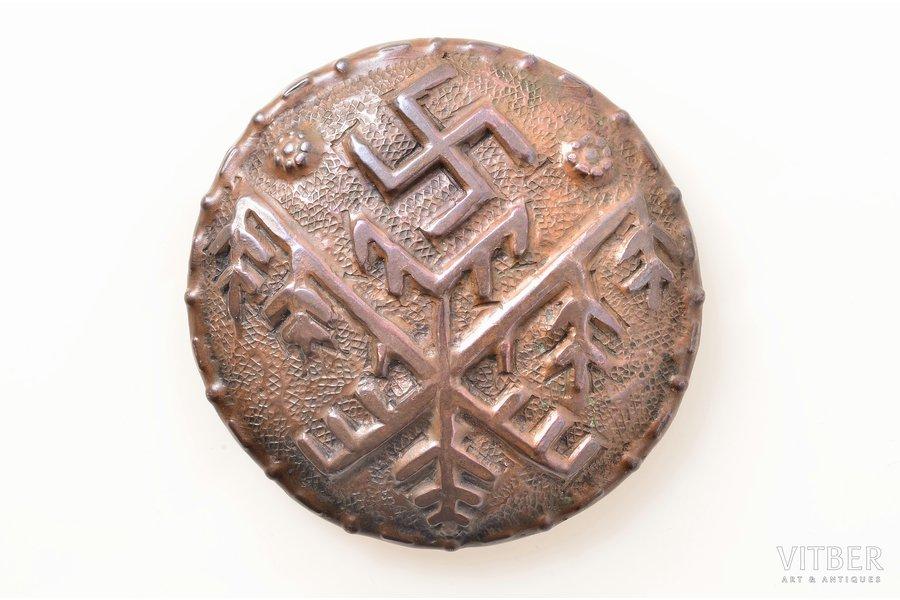 сакта, медь, размер изделия Ø - 6.3 см, 20-30е годы 20го века, Латвия