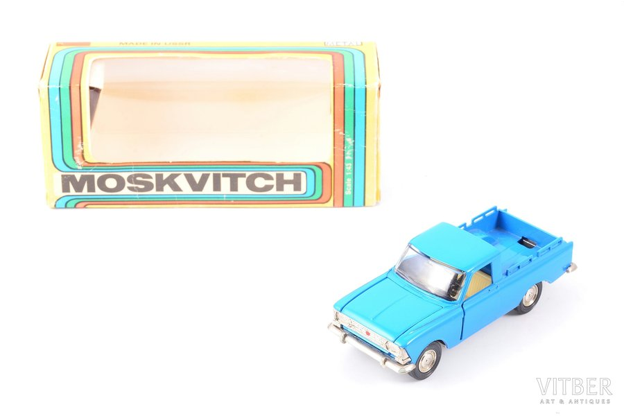 car model, Moskvitch pickup Nr. A19, metal, USSR, 1983-1987