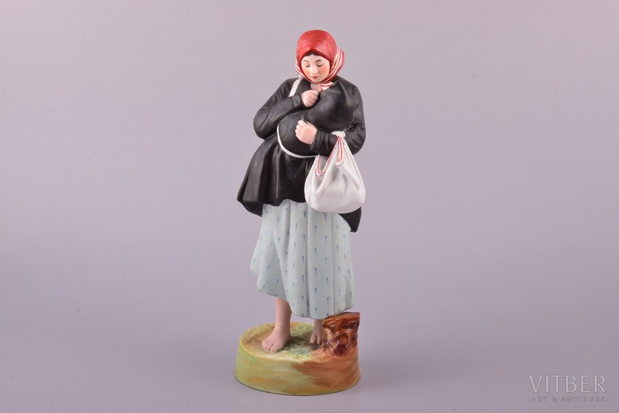 figurine, Mother, porcelain, Russia, Gardner manufactory, 1880, 23.9 cm