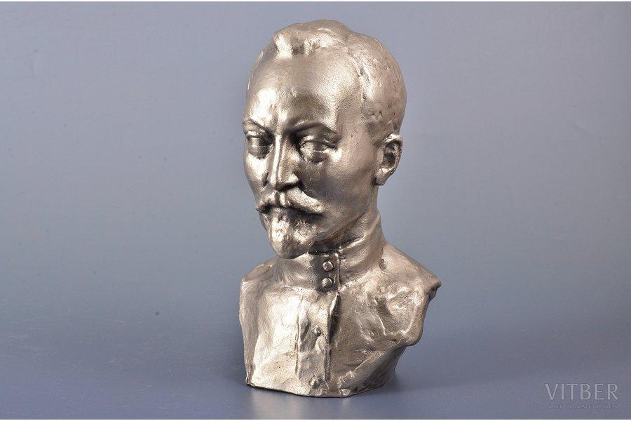 bust, F. Dzerzhinsky, aluminum alloy, 16.4 cm, weight 622.20 g., the 20th cent.