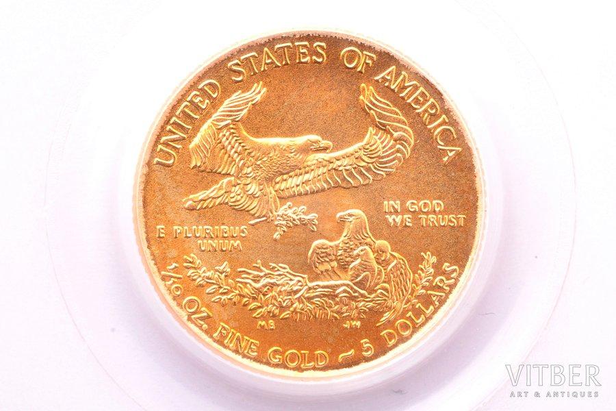 5 долларов, 2010 г., золото, С...