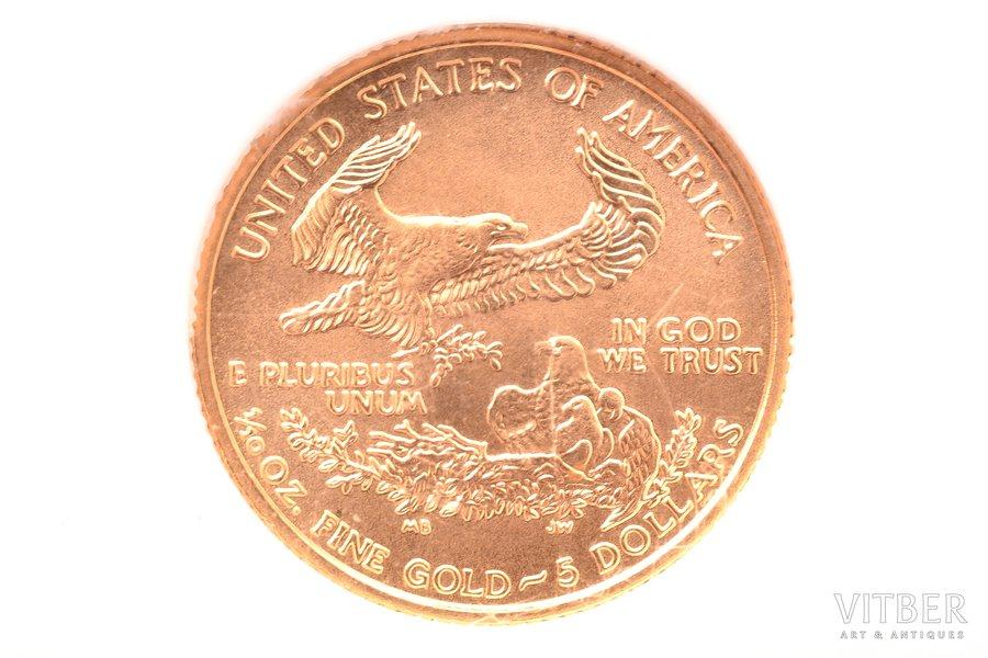 5 долларов, 2007 г., золото, С...