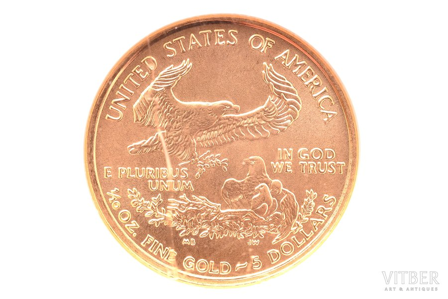 5 долларов, 2000 г., золото, С...