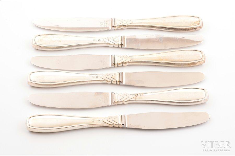 комплект ножей, 6 шт., серебро...