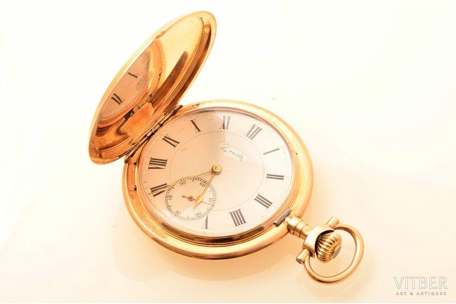 """pocket watch, """"Zenith"""", Switzerland, gold, 56 standart, 79.45 g, 6.8 x 5 cm, 40.7 mm, in order"""
