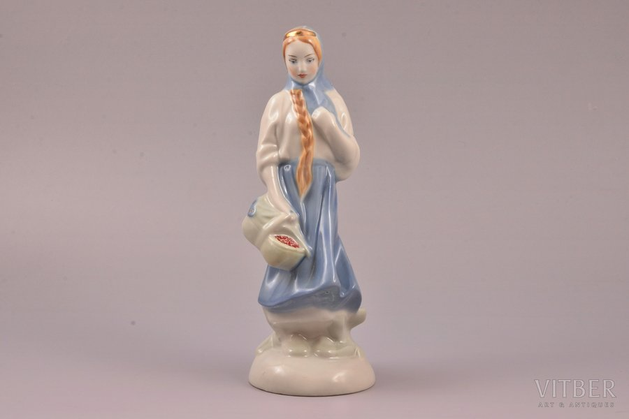 figurine, Baiba, porcelain, Riga (Latvia), USSR, Riga porcelain factory, molder - Rimma Pancehovskaya, the 60ies of 20th cent., 21.4 cm, first grade