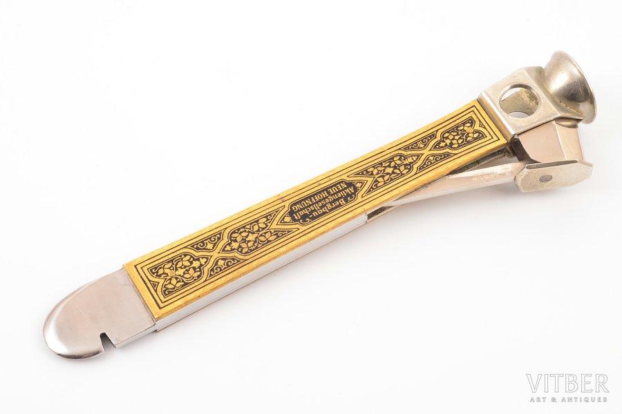 cigar cutter, E.Bonsmann Solingen, metal, Germany, 14.5 cm, weight 92.25 g