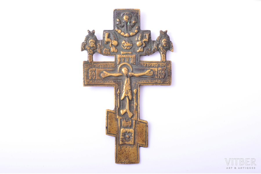 cross, The Crucifixion of Christ, copper alloy, Russia, 11.5 x 6.6 x 0.3 cm, 52.30 g.