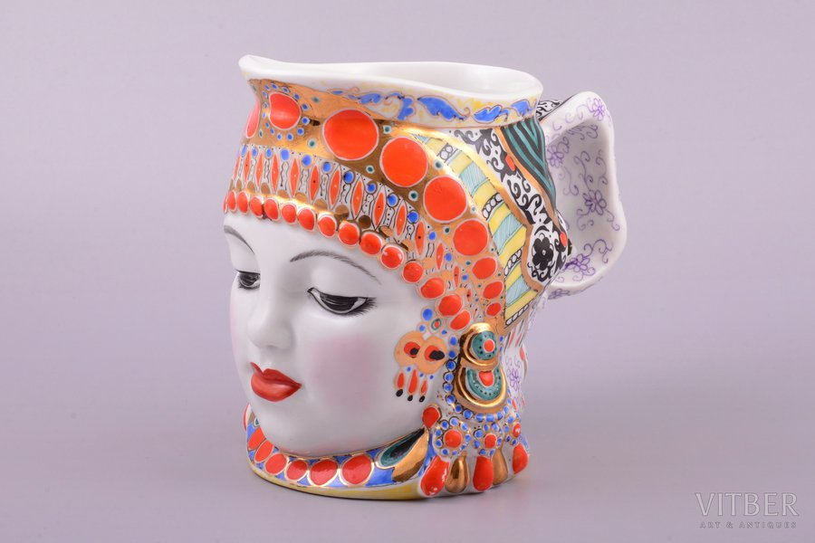 "a cup, ""Milk"", porcelain, LFZ - Lomonosov porcelain factory, shape by Danjko Natalia, USSR, the 50ies of 20th cent., h 13.7 cm"
