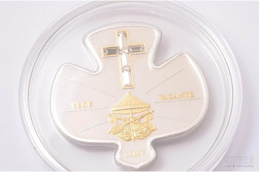 10 dollars, 2005, Sede Vacante, silver, Liberia, 25 g, Ø 38 mm, Proof