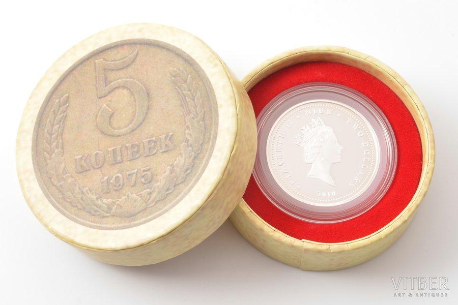 2 dollars, 2010, Elizabeth II, Soviet Transport, Metro, silver, New Zealand, 31.1 g, Ø 40.7 mm, Proof, in a box