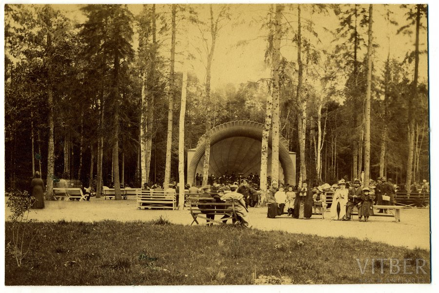 photography, Rīga, Mežaparks (on cardboard), Latvia, Russia, the border of the 19th and the 20th centuries, 22,5x14,5 cm