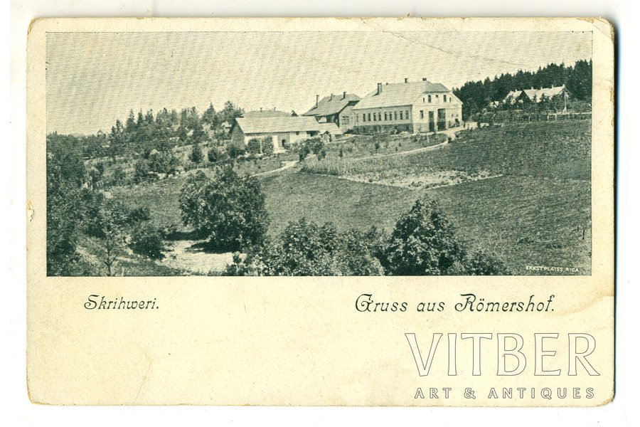 postcard, Ramershof (Skriveri), Latvia, Russia, beginning of 20th cent., 14,2x9,2 cm