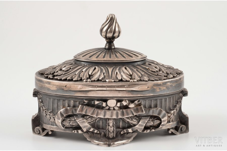 case, silver, 84 standart, the 19th cent., 367.7 g, St. Petersburg, Russia, 10.3 x 6 cm