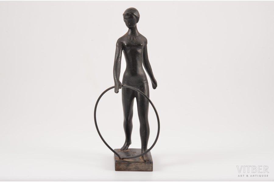 figurine, Gymnast, The 1980 Summer Olympics, cast iron, h 19.1 cm, weight 589.5 g., USSR, Kasli, 1981