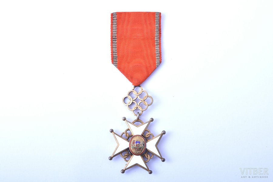 order, Cross of Approval, 5th class, silver, enamel, Latvia, 1938-1940