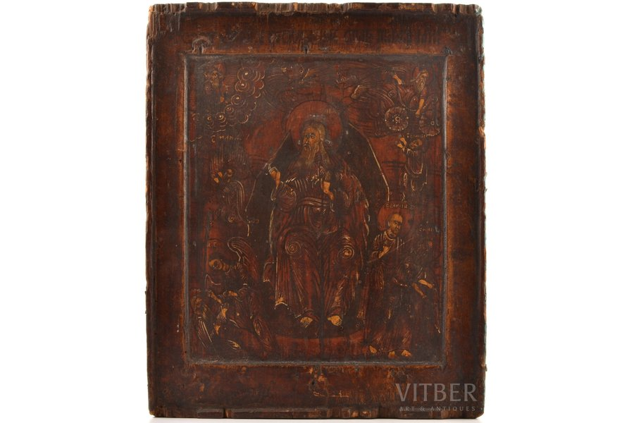 icon, the Holy prophet Elijah, board, painting, Russia, the 17th cent., 31.5 x 25.7 x 3.2 cm