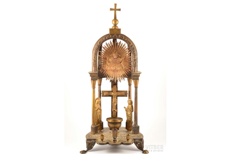 tabernacle, brass, Russia, the border of the 19th and the 20th centuries, 65 cm