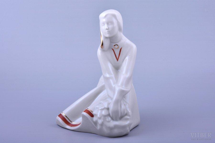 figurine, Ligo, porcelain, Riga (Latvia), USSR, Riga porcelain factory, molder - Rimma Pancehovskaya, 1947-1970, 18.5 cm, first grade