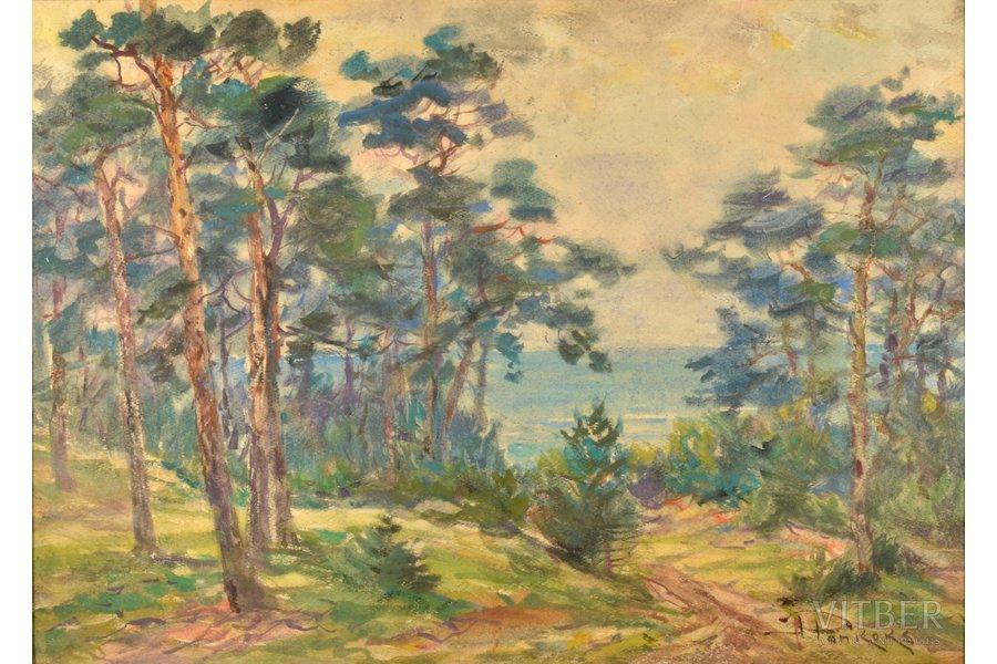 """Pankoks Arnolds (1914-2008), """"Dunes"""", paper, water colour, 42 x 58.5 cm"""