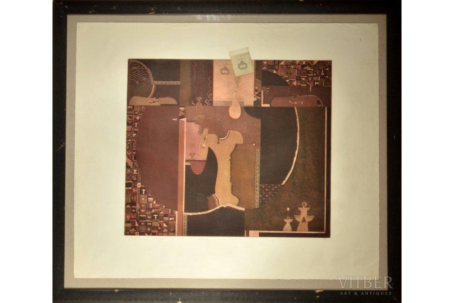 Roman Romanyshyn, The Desire, 1995, paper, etching, 46 x 53 cm