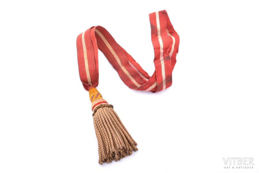 Latvian Army parade sword knot, total length 40 cm, Latvia, the 20-30ties of 20th cent.